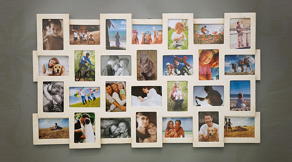 Tableau pele mele photo une id e originale de cadeau - Pele mele photo a faire soi meme ...